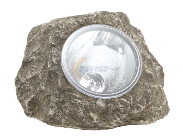 """HomeBrite 30180 Solar Rock Spotlight - Gray (7"""")"""