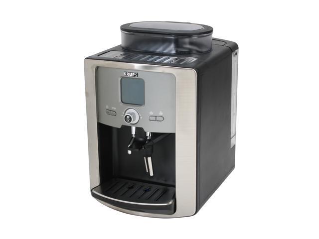 krups silver espresso machine