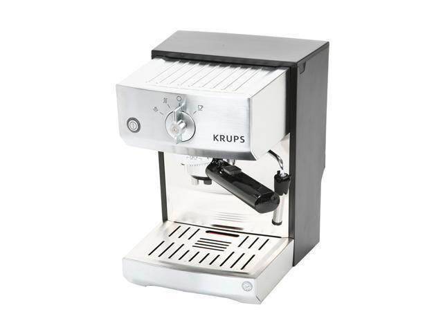 KRUPS XP5240 Precise Tamp Mechanical Espresso Machine Silver/Black