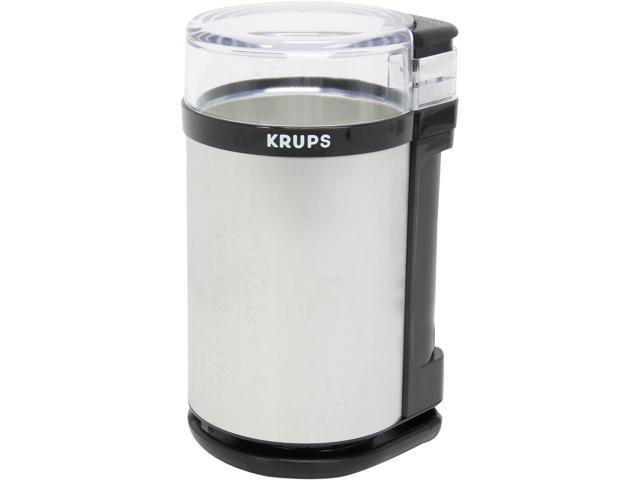 KRUPS GX4100 Gray Electric Spice Herbs and Coffee Grinder with Stainless Steel Blades and Housing