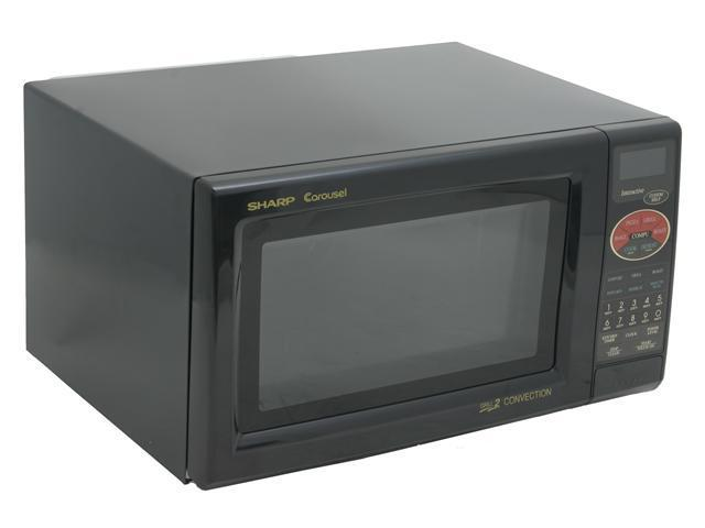 Sharp 900 Watts Convection Microwave Oven R-820BK Smooth Black