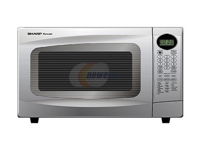 Sharp 1100 Watts Mid Size 1 0 Cu Ft Microwave Oven R 306lw White