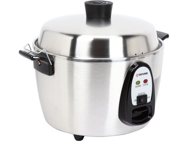 TATUNG TAC-06KN(UL) Silver 6 Cup Stainless Steel Multi-Functional Rice Cooker and Steamer