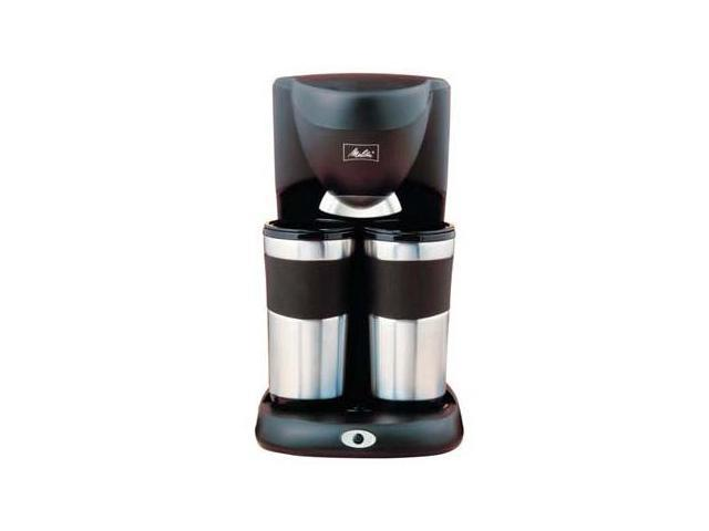 Coffee Maker For Travel Mug : Melitta ME2TMB Black/Steel Inventives Dual Travel Mug Coffee Maker - Newegg.com