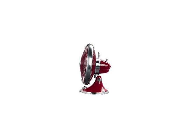 """Hunter 90043 12"""" Oscillating Table Fan  Victory Red"""