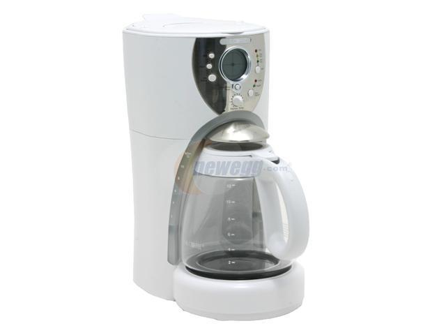 MR. COFFEE ISX20 White 12-Cup Programmable Coffee Maker