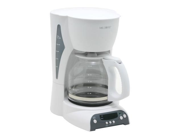 Coffee Maker Without Auto Shut Off : MR. COFFEE DRX20 White 12-Cup Programmable Coffee Maker - Newegg.com