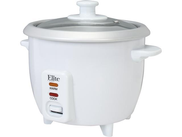 Elite ERC-003 White 6-Cup Deluxe Rice Cooker