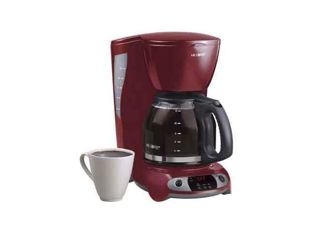 MR. COFFEE TFX26 Red 12 Cup Programmable Coffee Maker