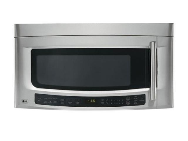 LG 1100 Watts 2.0 cu.ft. Over the Range Microwave Oven LMVM2075ST Sensor Cook Stainless Steel