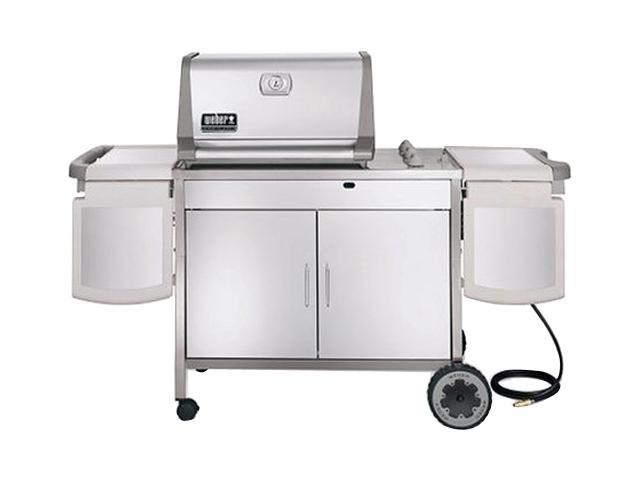 Weber genesis platinum b gas grill stainless steel for Weber grill danemark