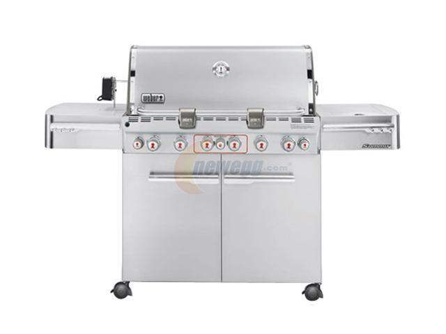 weber summit s 670 gas grill lp 2780001 stainless steel. Black Bedroom Furniture Sets. Home Design Ideas