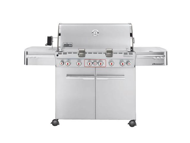 weber summit s 670 gas grill ng 2880001 stainless steel. Black Bedroom Furniture Sets. Home Design Ideas