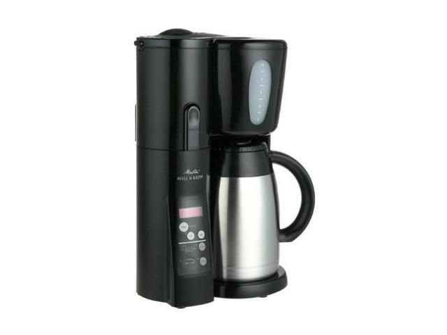 Melitta MEMB10TB 10-Cup Mill & Brew with Stainless Steel Thermal Carafe Coffee Maker - Newegg.com