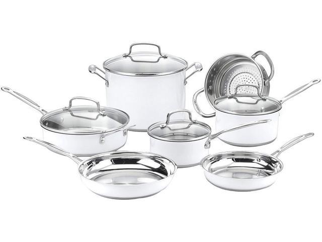 Cuisinart CSMW-11G Chef's Classic Stainless Color Series 11-Piece Set, White