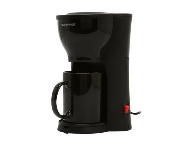 Toastess TFC-326 Black  1 Cup Space Saving Coffee Maker