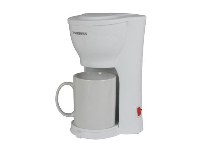 Toastess TFC-343 White 1 Cup Space Saving Coffee Maker - Newegg.com