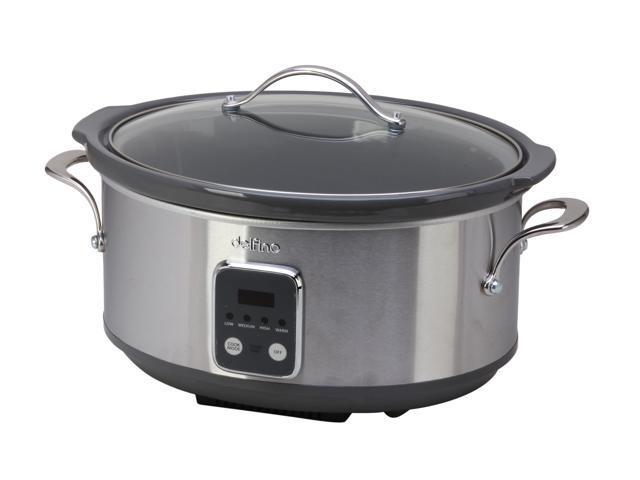 Toastess DLSC-697 Silver 7 Qt. Programmeble Slow Cooker