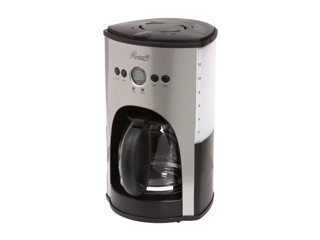 Rosewill RHCM-11001 Chrome/Black 12-Cup Programmable Coffeemaker