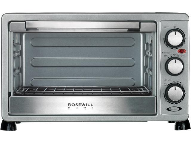 Rosewill 6 slice convection toaster oven countertop stainless steel rosewill 6 slice convection toaster oven countertop stainless steel large capacity for 12 publicscrutiny Images