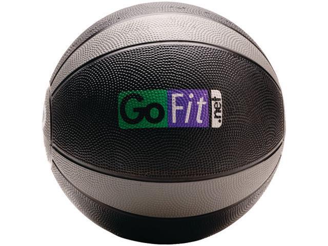 GoFit GF-MB12 Medicine Ball & Core Performance Training DVD (12 Lbs&#59; Black & Gray)