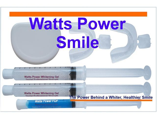 Watts Power White Optimized Pro 36% Deep Stain Teeth Whitening Kit with NEW Enamel Booster Gels & Teeth Trays