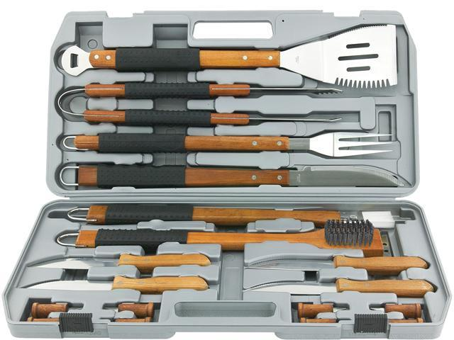 Mr. Bar-B-Q 02182X 18 Piece Gourmet Stainless Steel Tool Set
