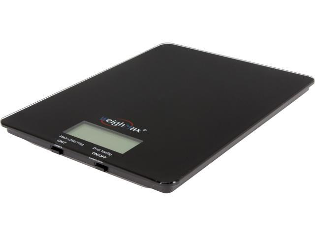 Weighmax W-GB25 25 lb Capacity Kitchen Scale in Black Glass