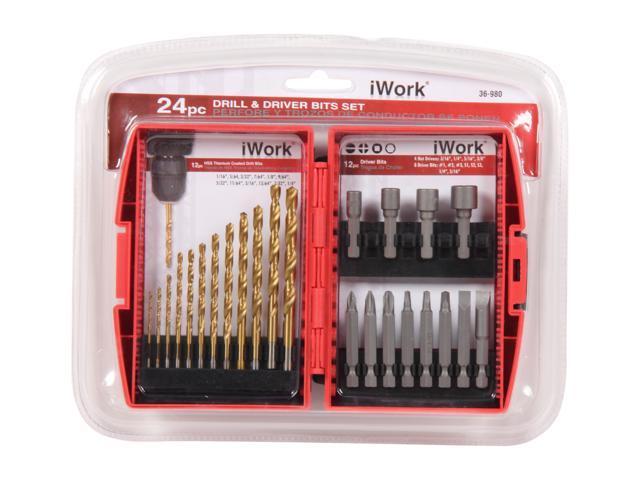 Olympia Tools 36-980 24pc Drill & Driver Bit Set