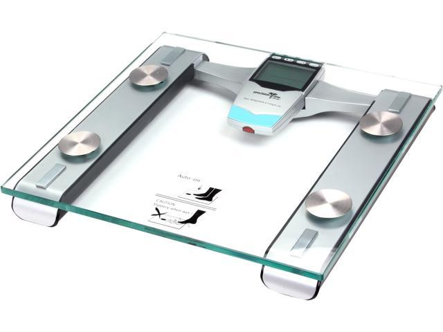 Precision One 7853 Removable Remote Glass LCD Digital Body Fat Scale