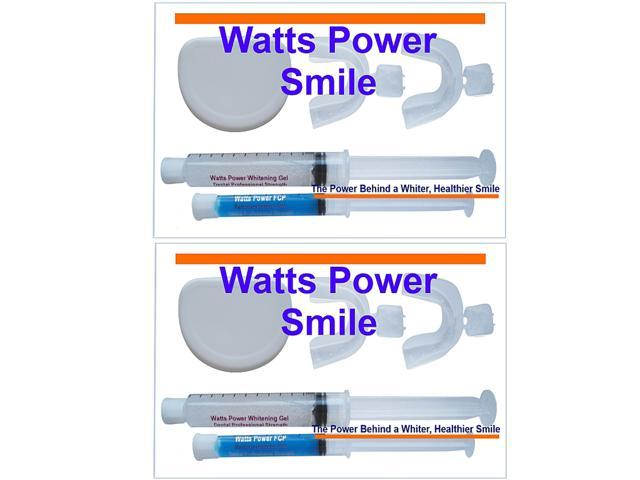 Watts Power WP2-Kits36% 2 - Professional 36% Deep Stain Teeth Whitening Kits with New FCP Remineralizing Gels / Huge 20ml - Kosher Certified USA