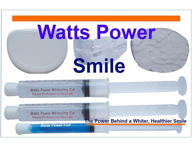 Watts Power WPDentalPro22 New Sensitive 22% Dental Pro Formula Teeth Whitening Shield System - 2 Huge 10ml Gels - Same Results ...