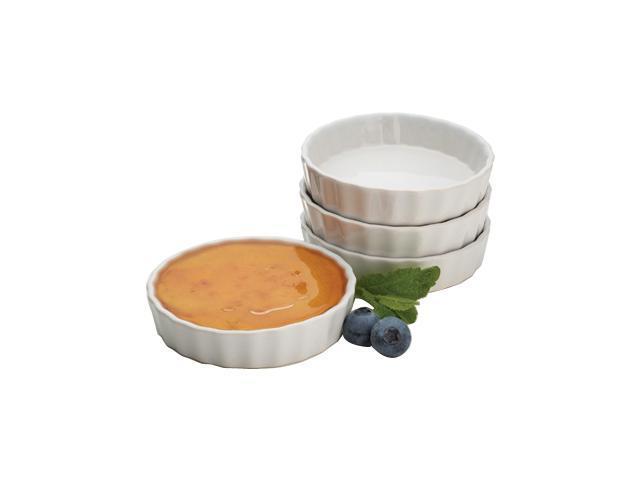 bonjour 53352 4 ounce round creme brulee ramekins set of 4 kitchen gadget. Black Bedroom Furniture Sets. Home Design Ideas
