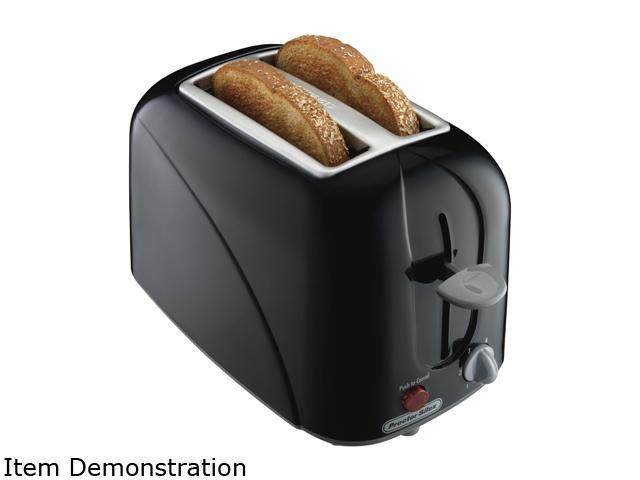 Proctor Silex 22210 Black 2 Slice Cool Touch Toaster