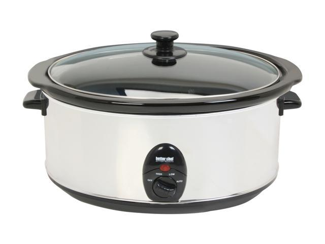 Better Chef IM-457 Stainless Steel 6.9 Qt. 6.5L Slow Cooker