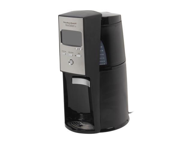 Hamilton Beach 47334 Black/Steel BrewStation Pro 12 Cup Coffeemaker