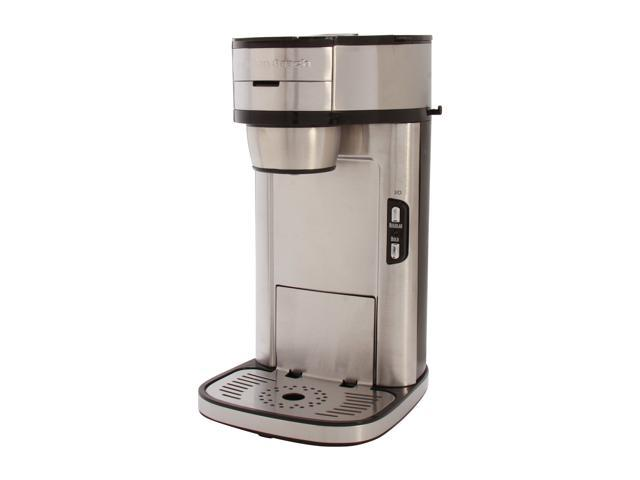 One Cup Stainless Steel Coffee Maker : Open Box: Hamilton Beach 49981 Stainless steel The Scoop Single-Cup Coffee Maker - Newegg.com