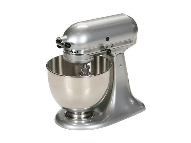 KitchenAid KSM150PSMC Artisan 325-Watt 5-Quart Stand Mixer (Metallic Chrome)
