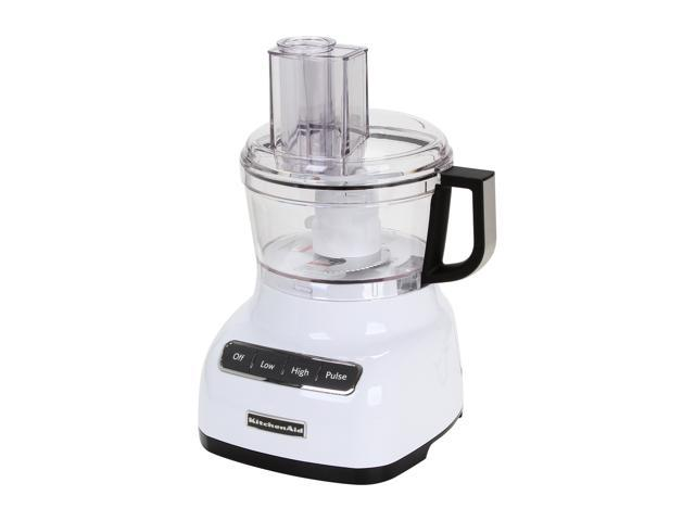 KitchenAid KFP0711WH White 7-Cup Food Processor with ExactSlice System 3 Speeds
