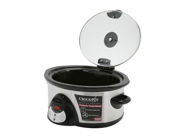 RIVAL SCVC604-SS 6 Qt. 6 Quart Digital Slow Cooker
