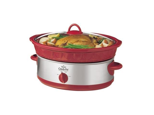RIVAL SCE600-RS Red 6 Qt. 6 Quart Slow Cooker