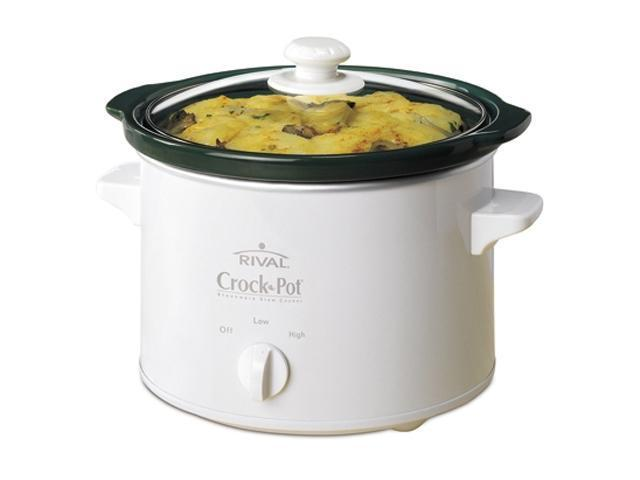 CROCK-POT 5025-WG White 2.5 Qt. Slow Cooker