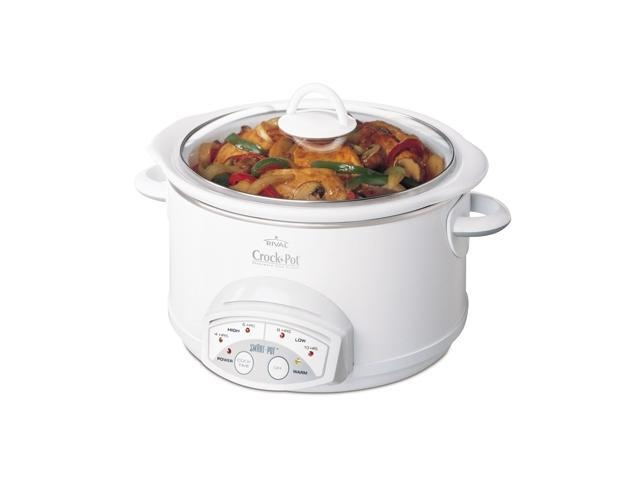CROCK-POT 38501-W White 5 Qt. Smart-Pot Slow Cooker