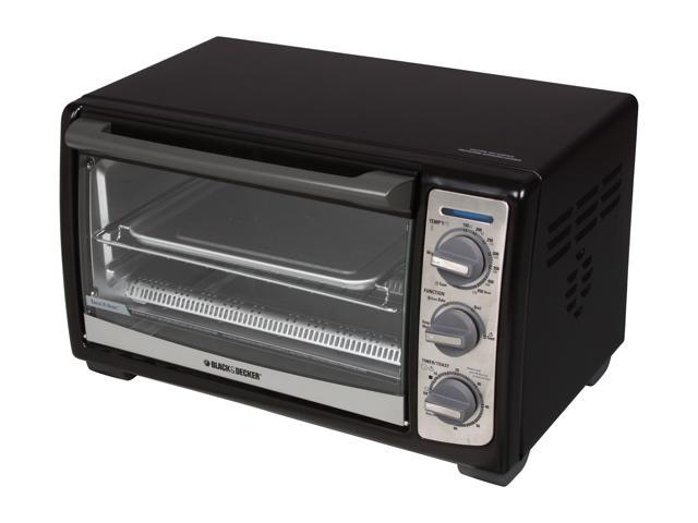Black & Decker TRO4075B Black 4-Slice Toaster Oven With Convection