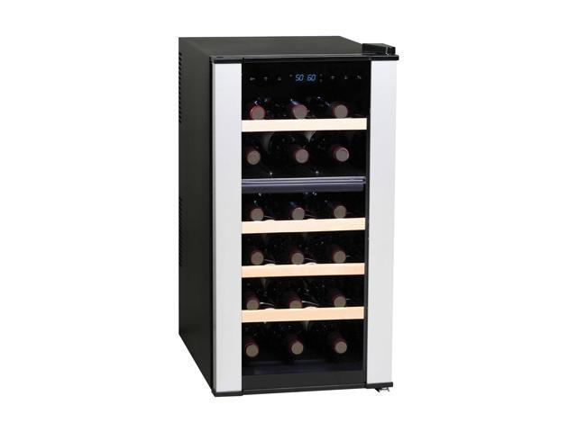Haier HVTS18DBVS 18 Bottle Dual Zone Wine Cellar With Virtual Steel