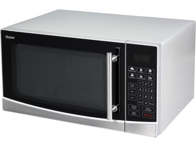 Haier Mwg10036tssl 1 Cu Ft 1000 Watt Microwave Oven Black Stainless