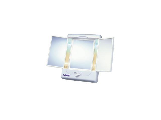 CONAIR TM7LX Illumina Collection Two Sided Lighted Make-Up Mirror With 3 Panels and 4 Light Settings