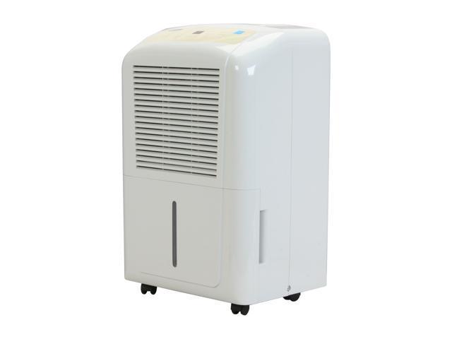 Soleus Air DP1-50-03 Humidistat 50-pint Portable Dehumidifier White