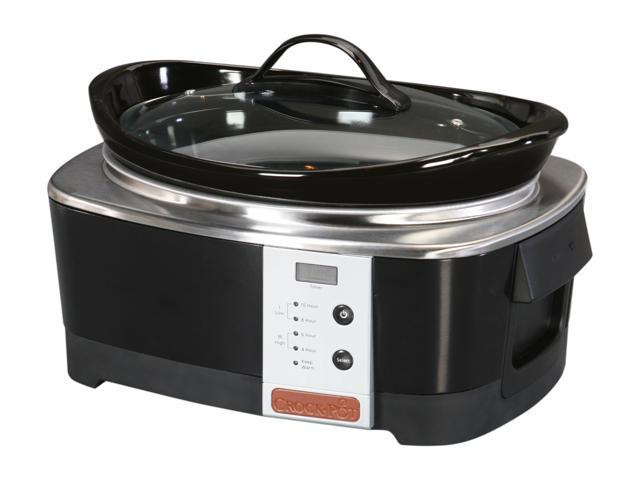 CROCK-POT SCCPQP600-B Black Designer Series Smart-Pot