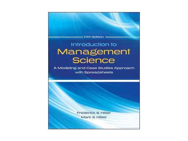 introduction to management science solution